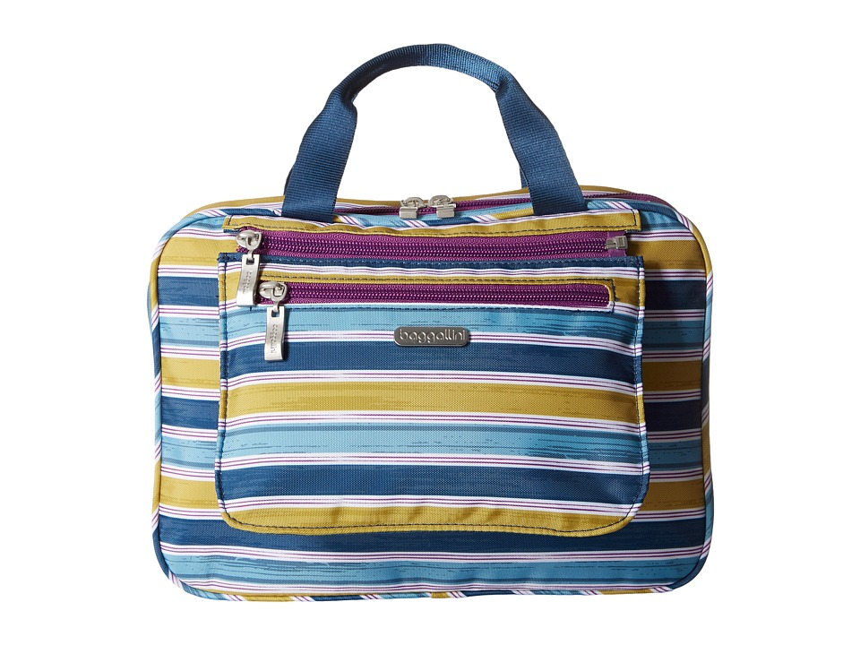 Baggallini - Deluxe Travel Cosmetic (Tropical Stripe Multi) Cosmetic Case