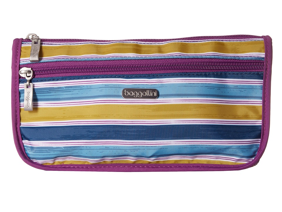 Baggallini - Large Wedge Case (Tropical Stripe) Cosmetic Case