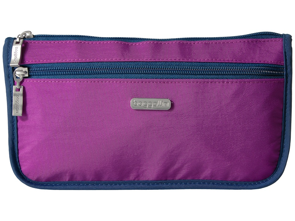 Baggallini - Large Wedge Case (Magenta/Pacific) Cosmetic Case