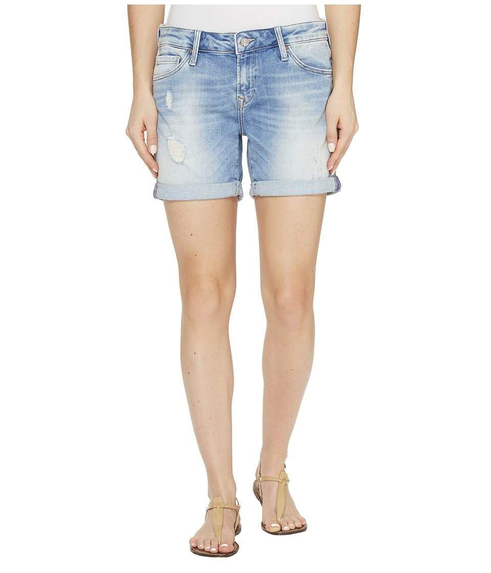 Mavi Jeans - Pixie Boyfriend Shorts in Light Ripped/Crashed (Light Ripped/Crashed) Women's Shorts
