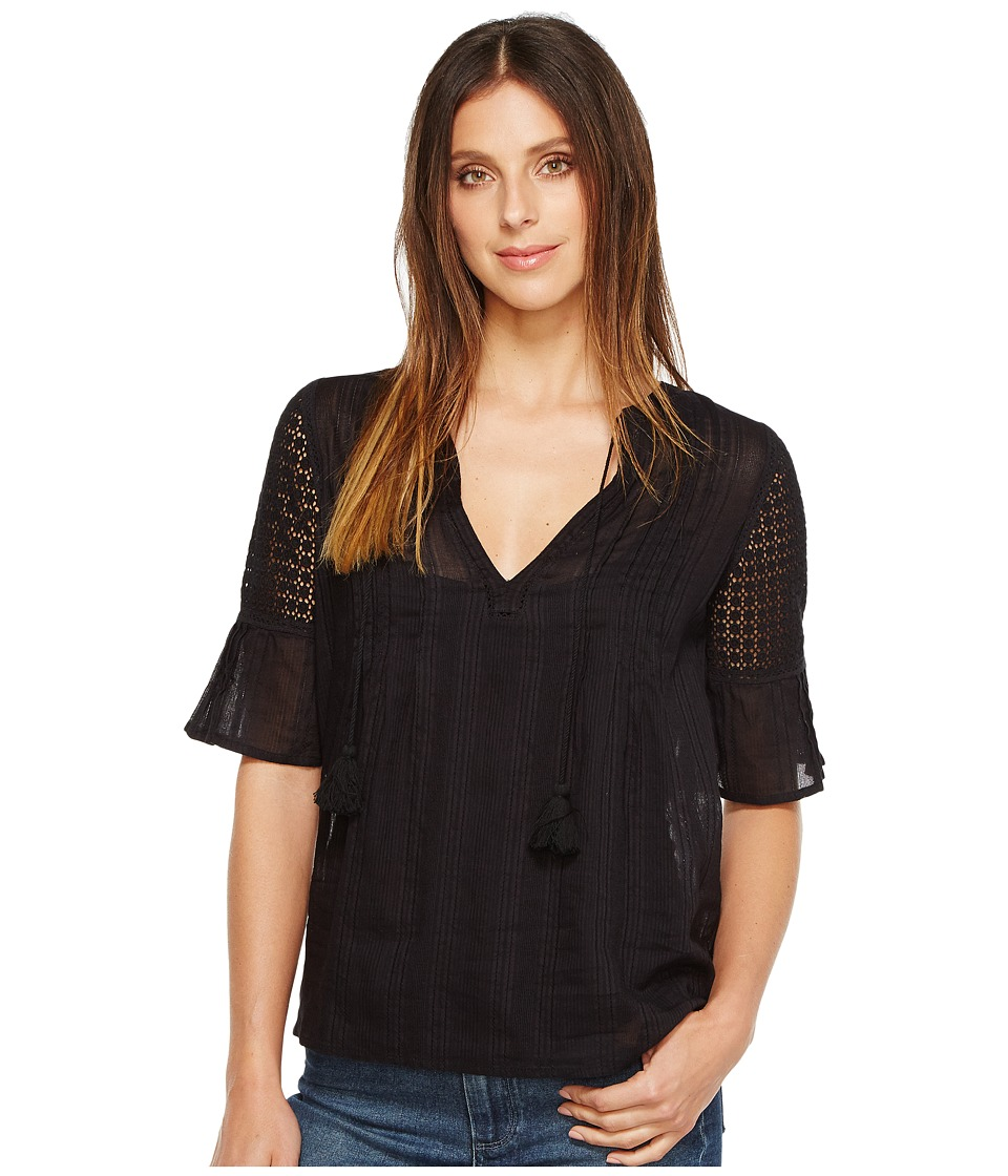 Paige - Cecile Top (Black) Women's Clothing