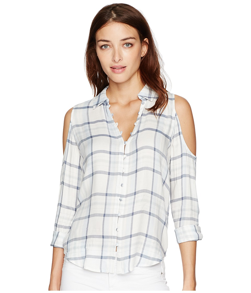 Paige - Bellini Shirt (Bright White/Periwinkle) Women's Clothing