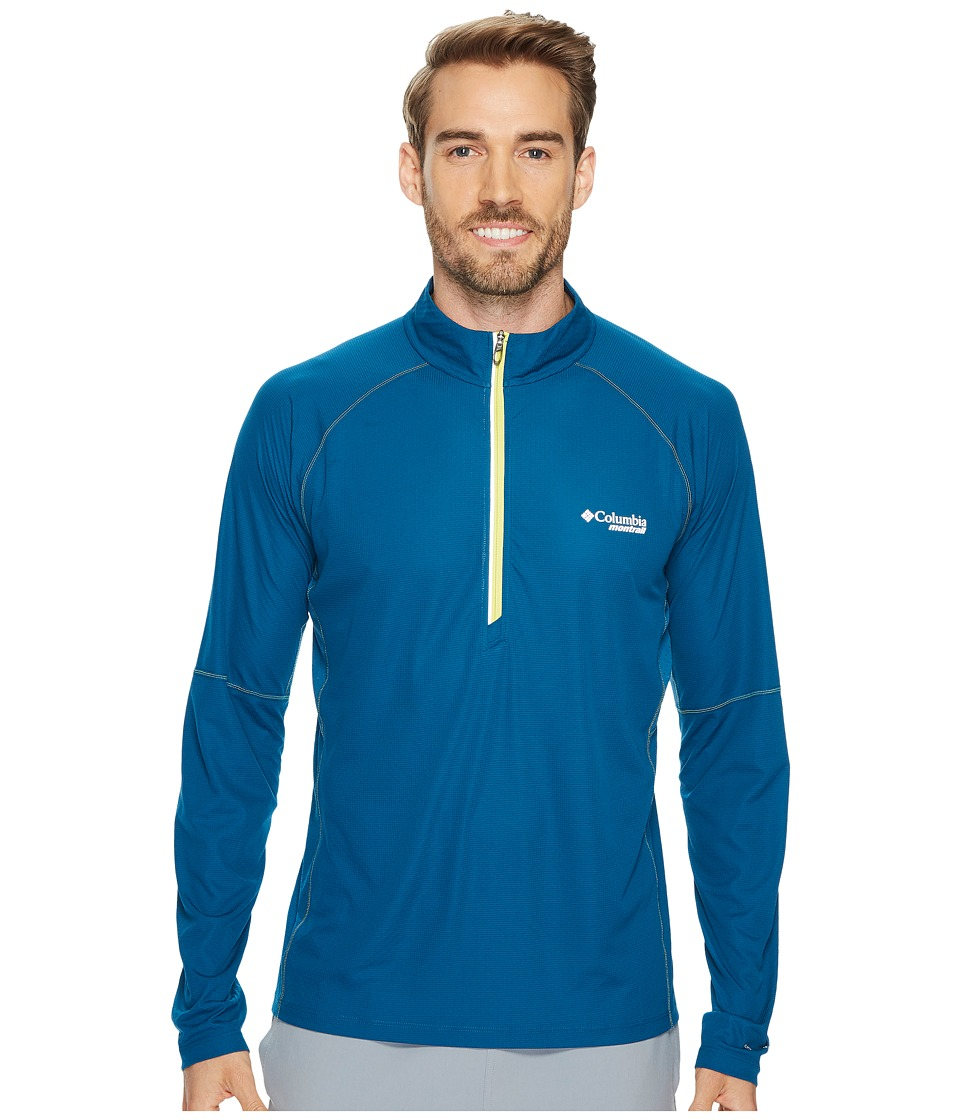 Columbia Titan Ultra Half Zip Shirt (Phoenix Blue) Men