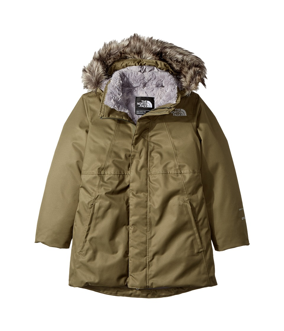 The North Face Kids Arctic Swirl Down Jacket (Little Kids/Big Kids) (Burnt Olive Green (Prior Season)) Girl