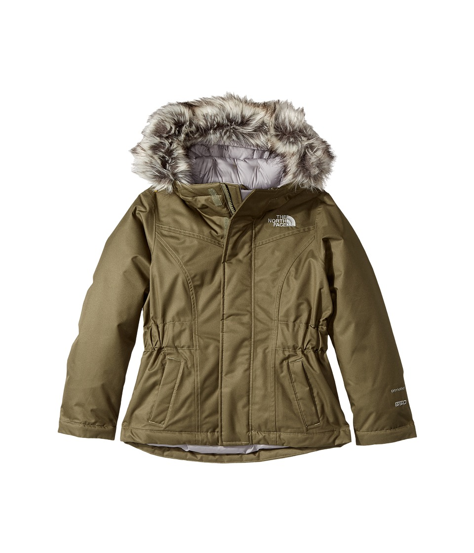 The North Face Kids Greenland Down Parka (Little Kids/Big Kids) (Burnt Olive Green (Prior Season)) Girl