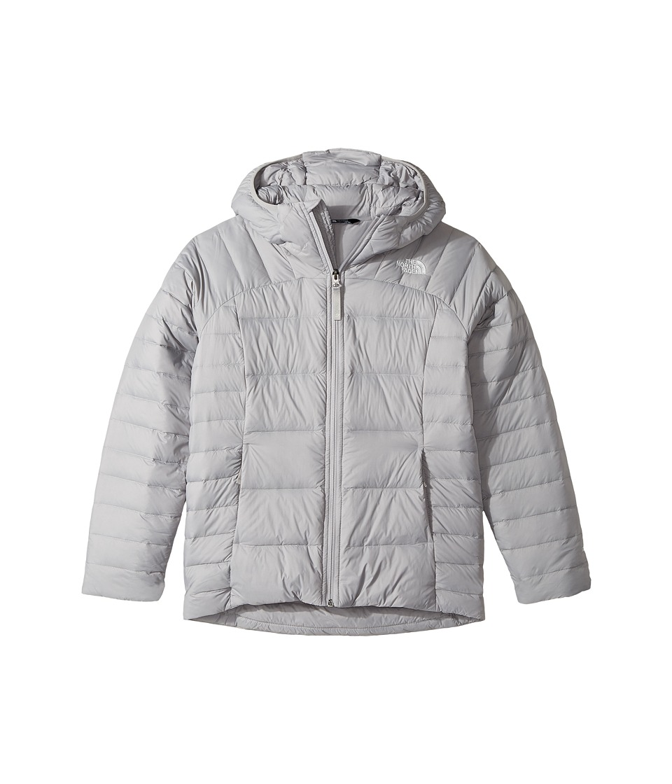 The North Face Kids Double Down Hoodie (Little Kids/Big Kids) (Metallic Silver (Prior Season)) Girl