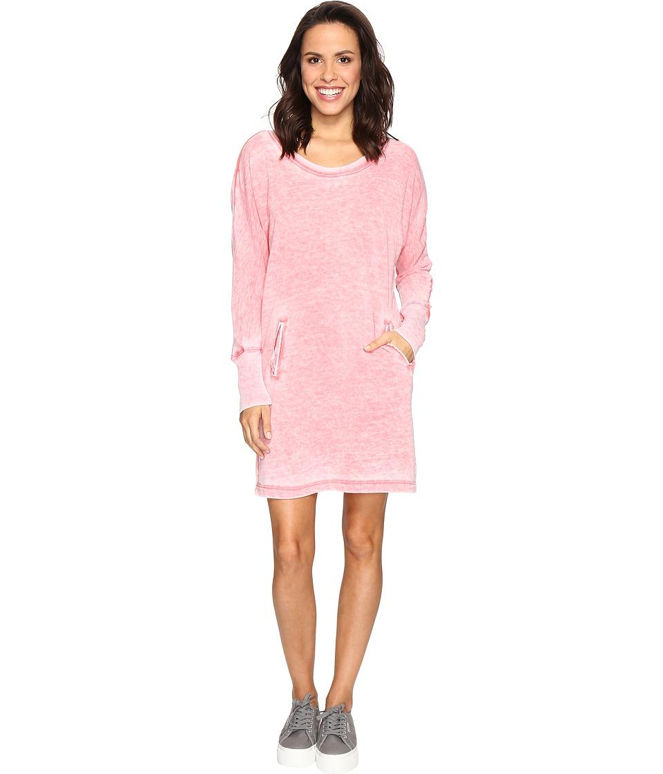 Allen Allen Long Sleeve Dolman Two-Pocket Dress (Begonia) Women