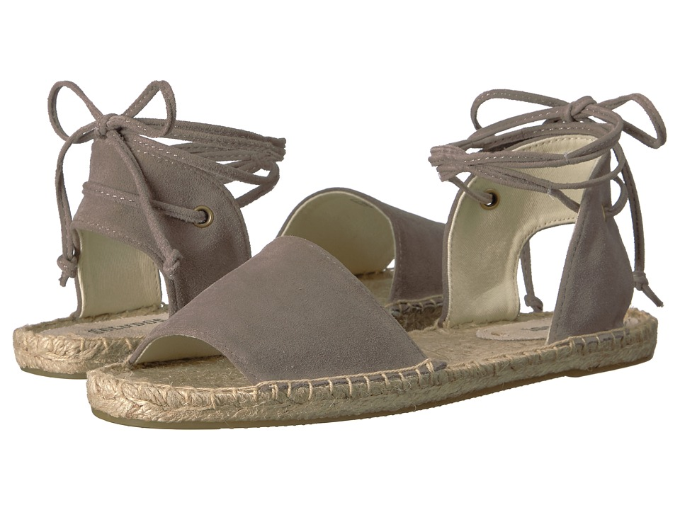 Soludos Balearic Tie-Up Sandal (Dove Gray) Women
