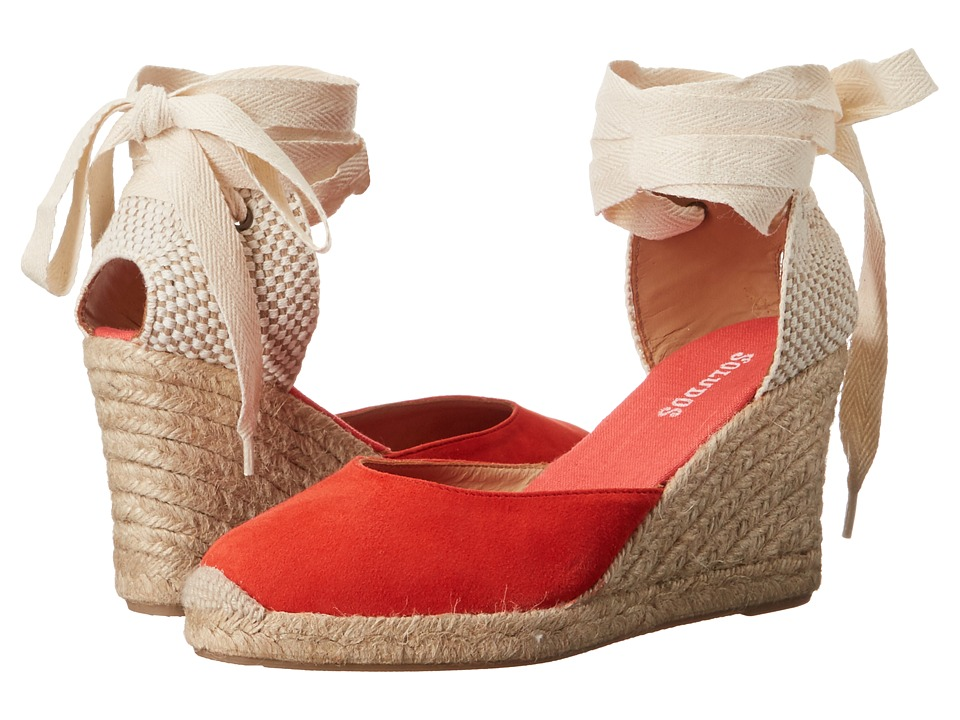 Soludos Tall Wedge (Fire Red) Women