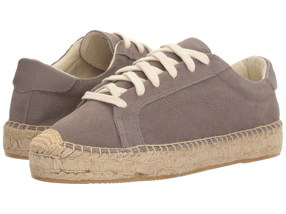 Soludos Suede Platform Tennis Sneaker (Dove Grey (Prior Season)) Women