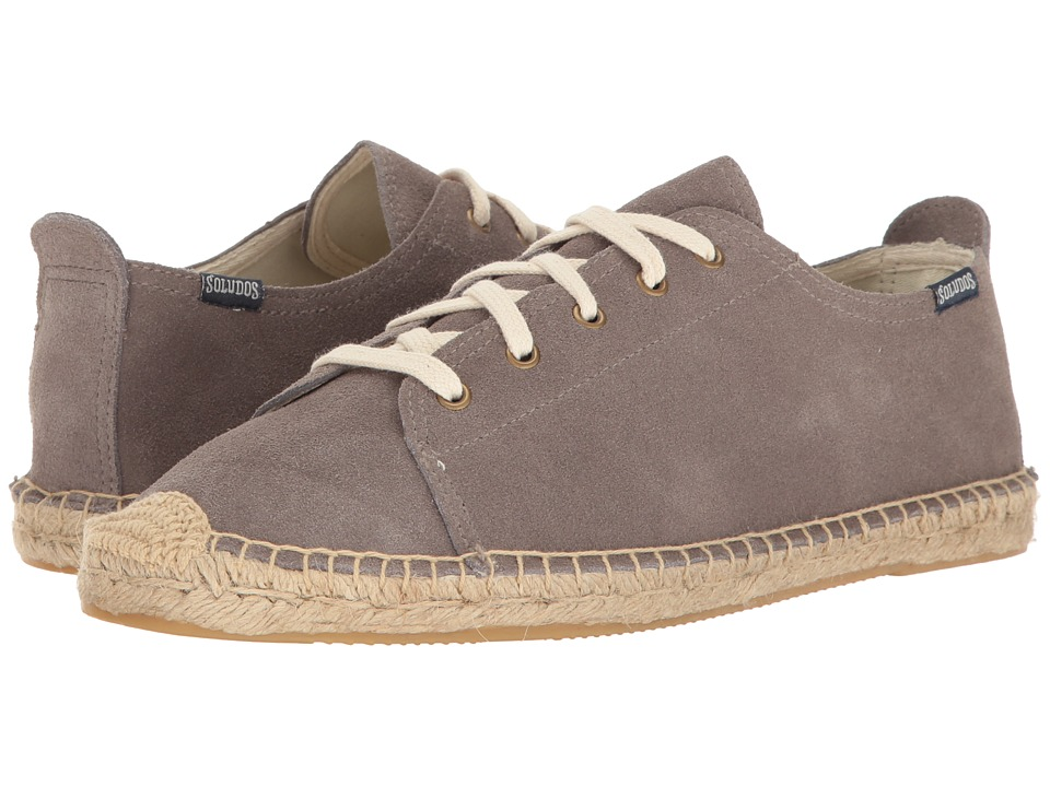 Soludos Suede Lace-Up Sneaker (Dove Gray) Men