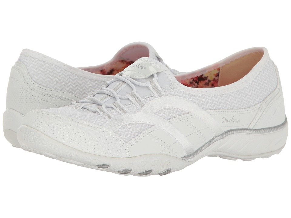 SKECHERS - Breathe Easy - Faithful (White) Women's Lace up casual Shoes