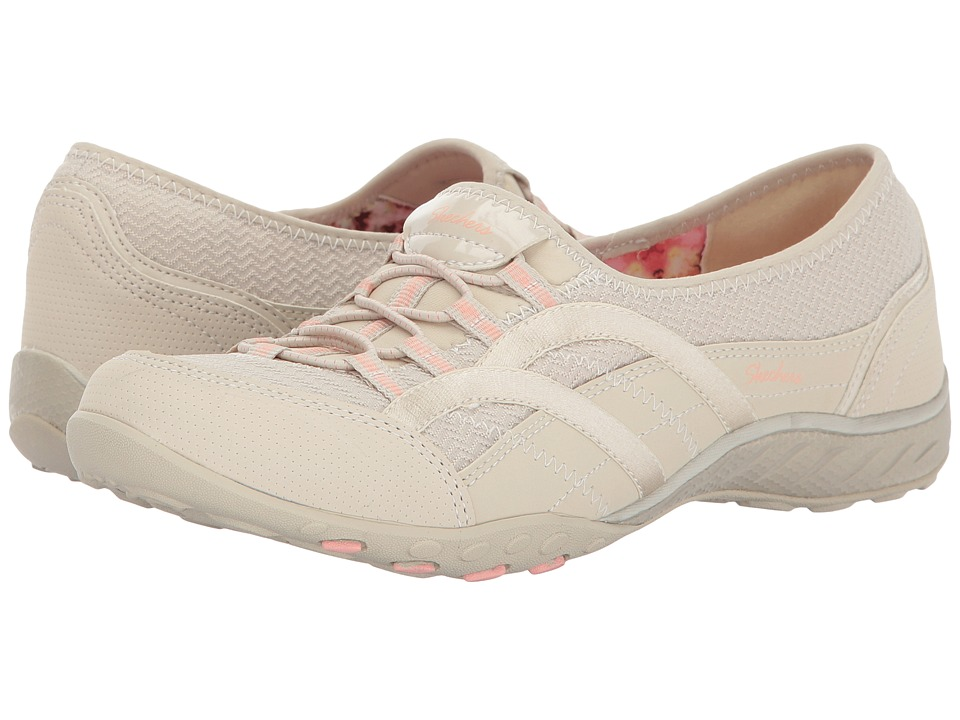 SKECHERS - Breathe Easy - Faithful (Natural) Women's Lace up casual Shoes