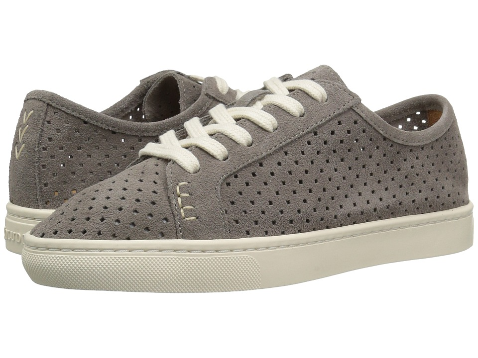 Soludos Perforated Lace-Up Sneaker (Dove Gray) Women