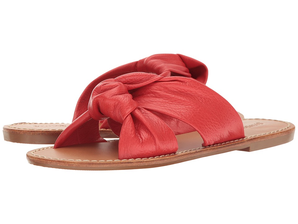 Soludos Knotted Slide Sandal (Fire Red) Women