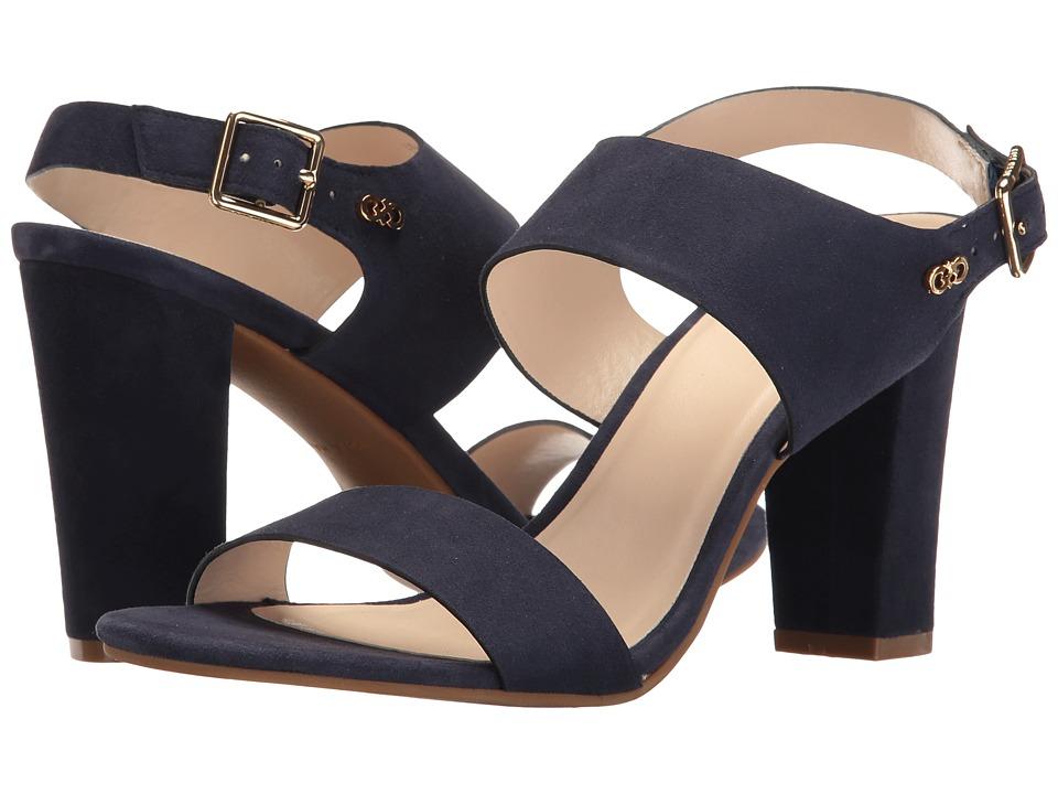 Cole Haan - Octavia Sandal II (Marine Blue Suede) Women's Sandals