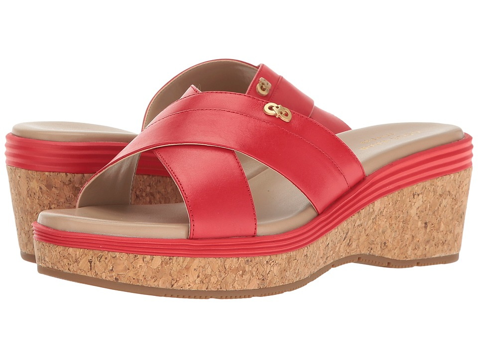 Cole Haan - Briella Grand Sandal II (Goji Berry Leather/Maple Sugar/Goji Berry/Cork) Women's Sandals