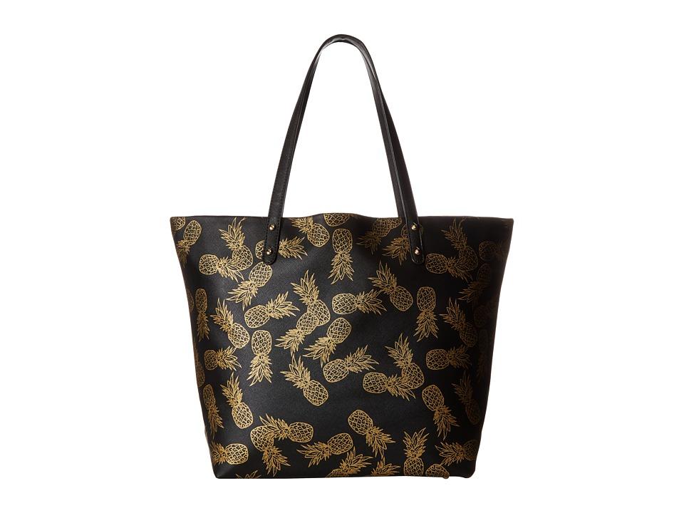 Deux Lux - Pineapple Tote (Black) Tote Handbags