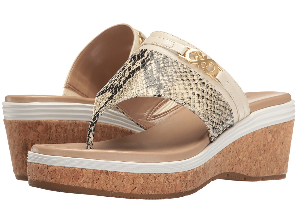 Cole Haan - Lindy Grand Thong II (Roccia Snake Print/Sandshell Leather/Maple Sugar/Fog/Cork) Women's Shoes