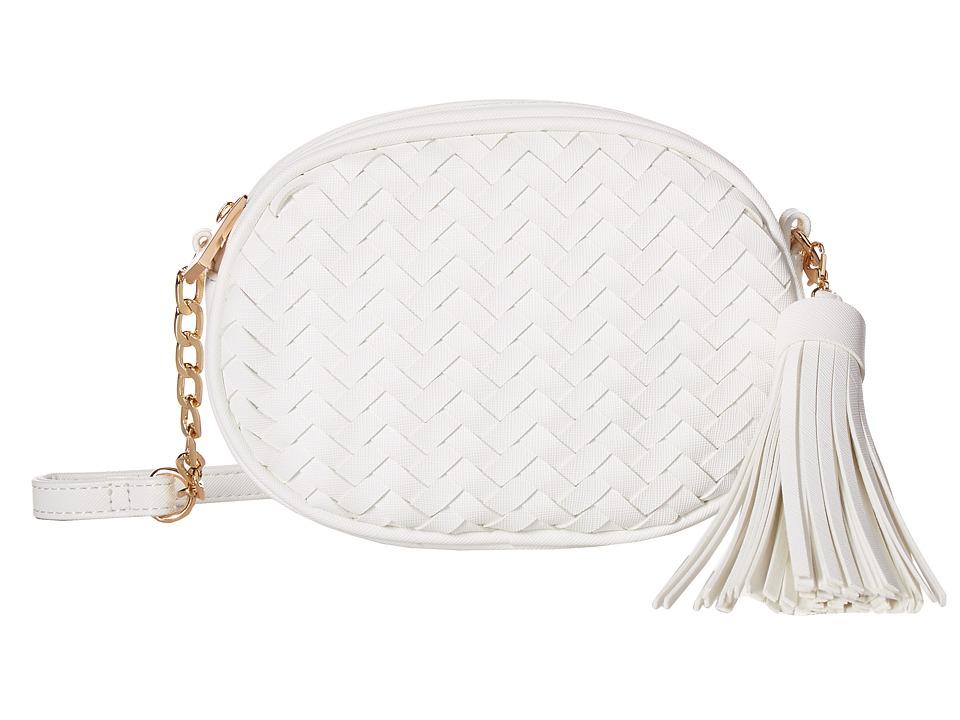 Deux Lux - Sullivan Oval Messenger (White) Messenger Bags