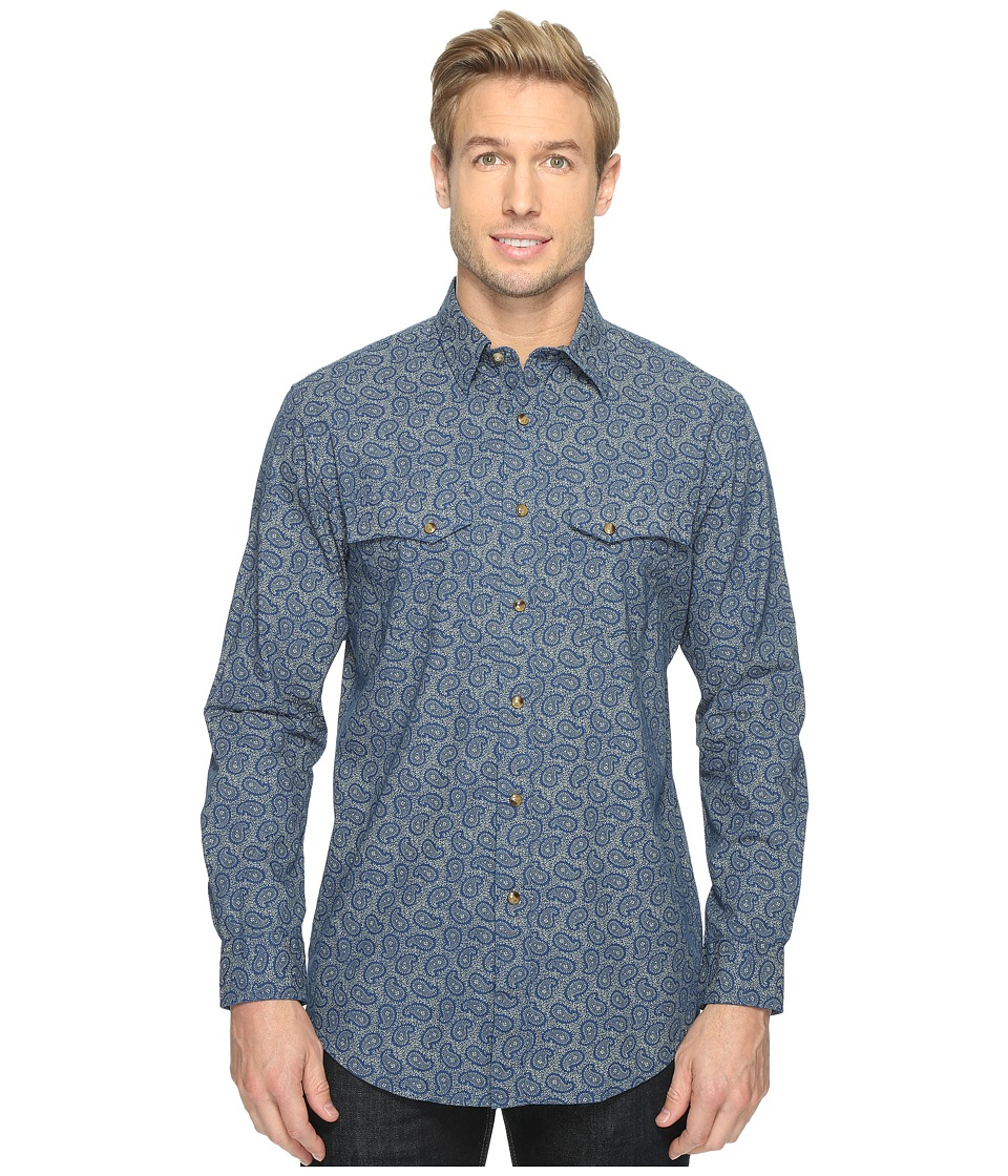 Pendleton - Western Gambler Shirt (Blue Paisley) Men's Clothing