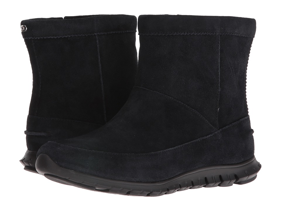 Cole Haan Zerogrand Bootie WP (Black Suede) Women