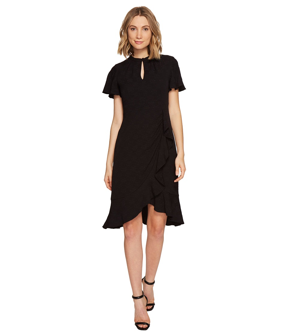 Nanette Lepore - Flirty Flutter Dress (Black) Women's Dress