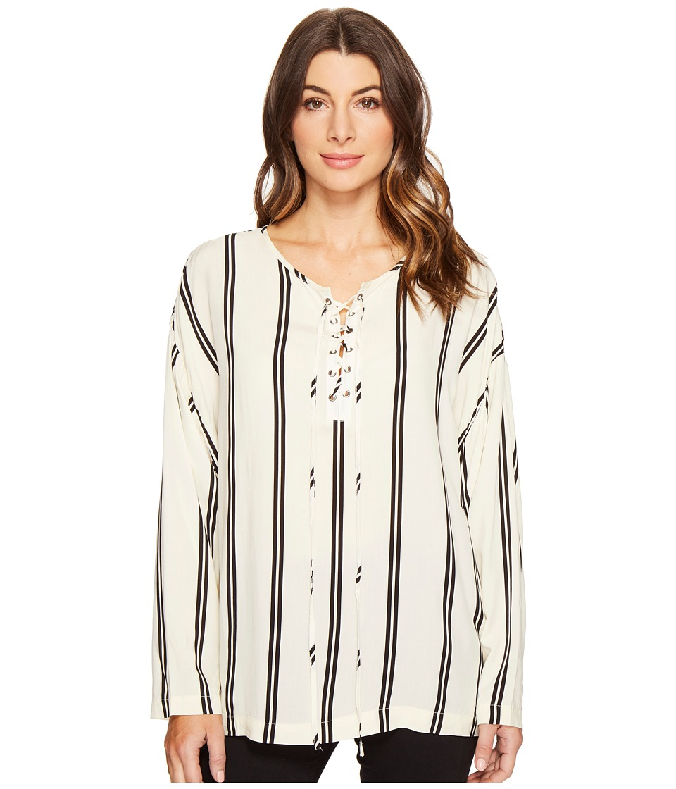 CATHERINE Catherine Malandrino - Sobe Blouse (Fennel Stripe Black) Women's Blouse