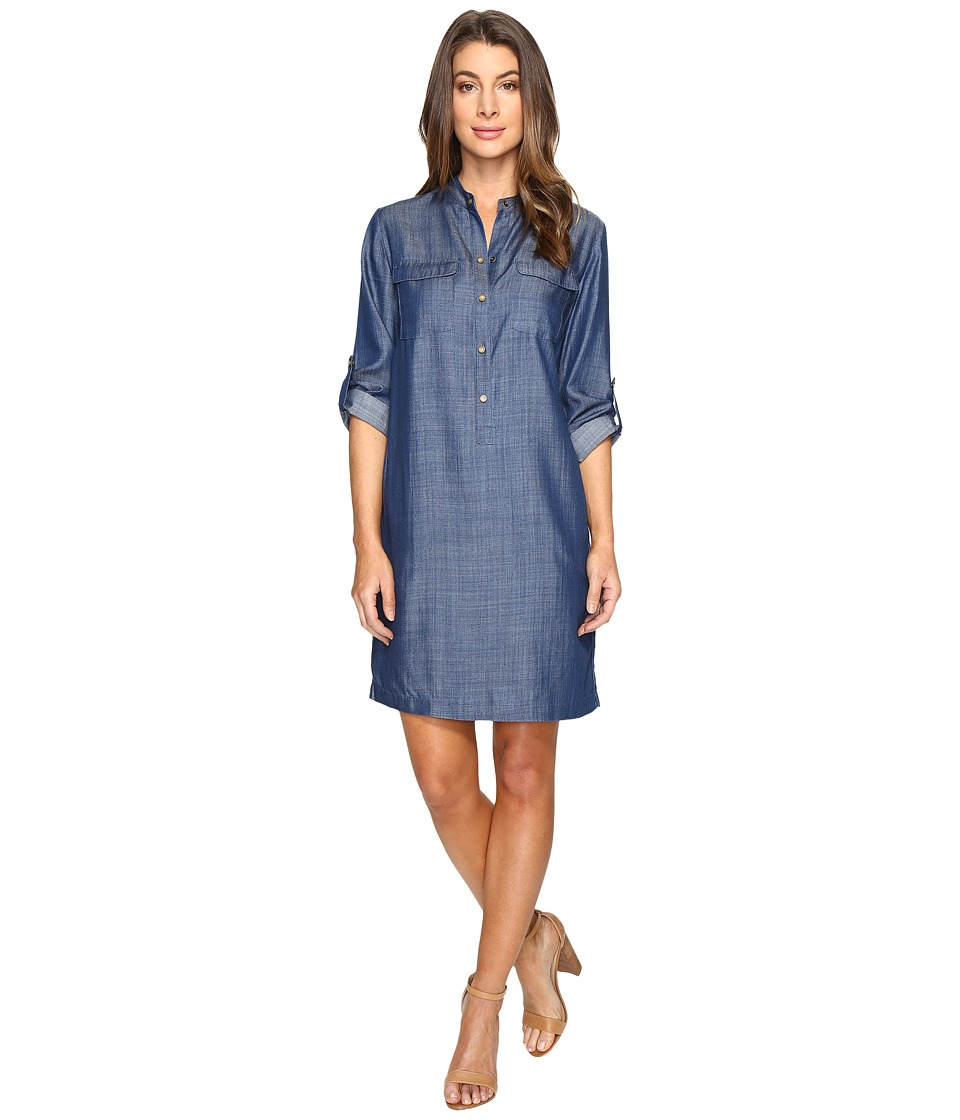 Tommy Bahama - Chambray All Day Short Dress (Dark Wash) Women's Dress
