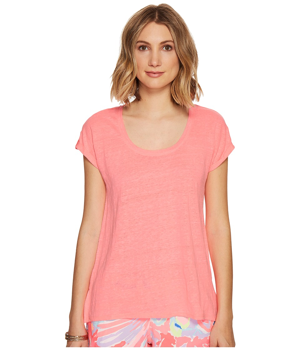 Lilly Pulitzer - Inara Linen Beach Top (Bungalow Pink) Women's Clothing