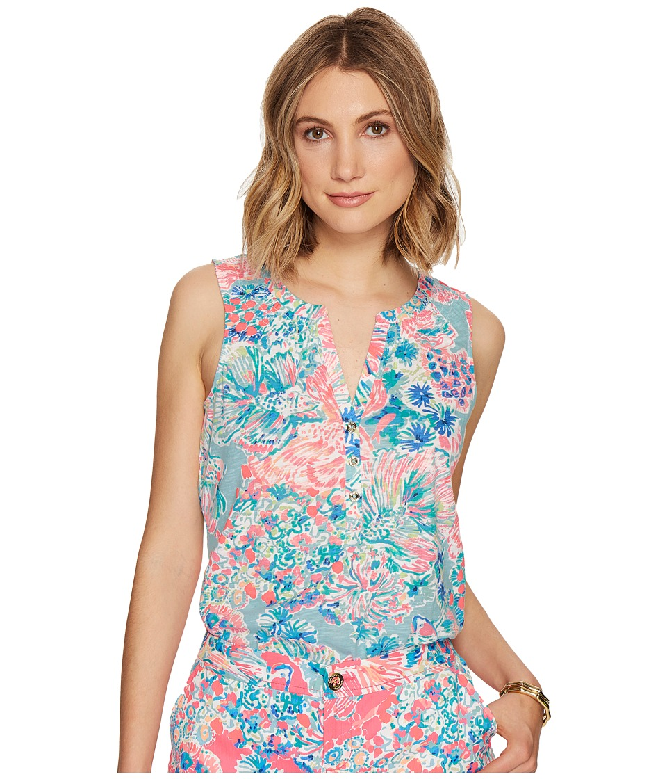 Lilly Pulitzer - Essie Top (Serene Blue Gypsea) Women's Sleeveless