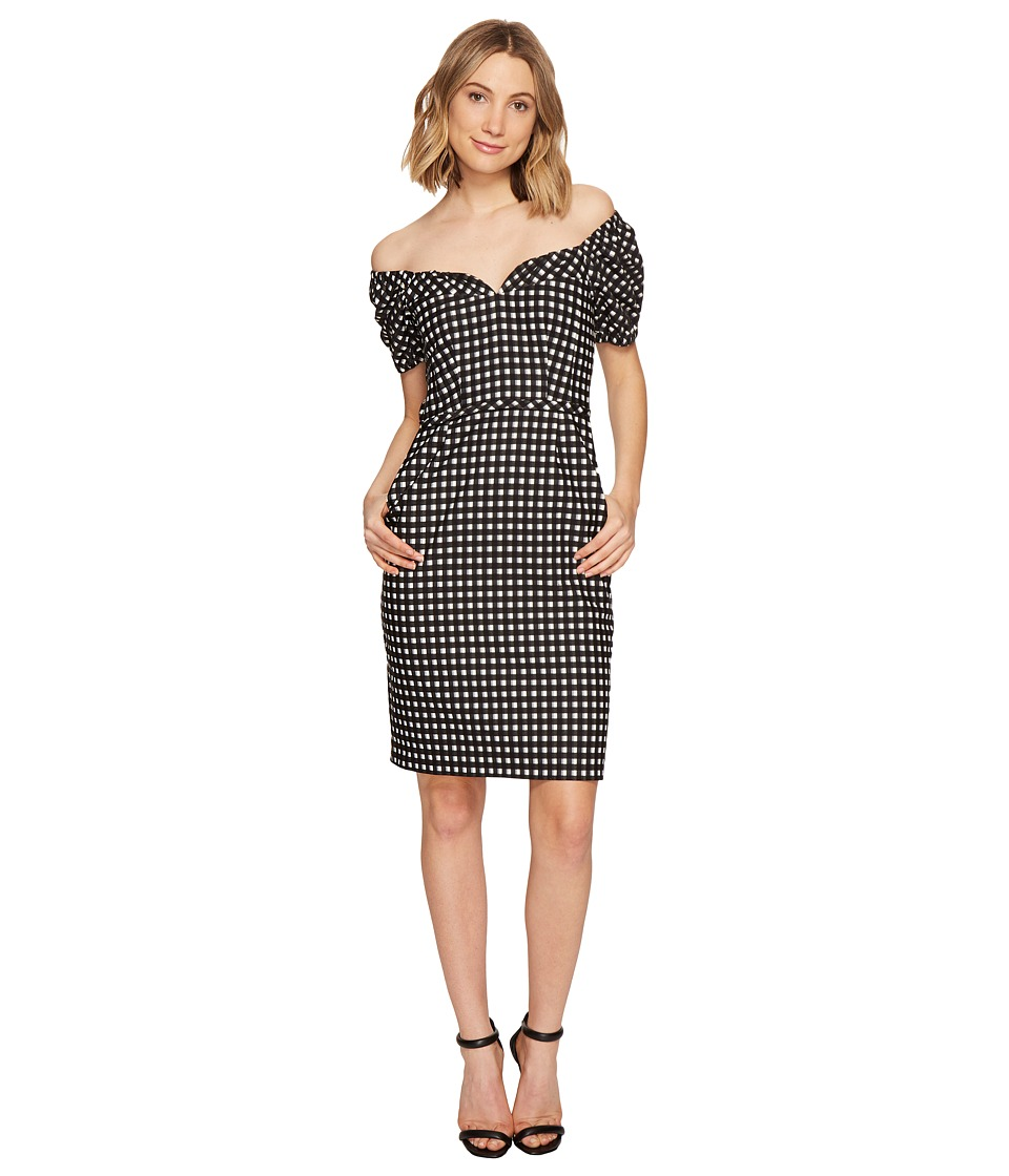 Nanette Lepore - Cheeky Check Dress (Black/Ivory) Women's Dress