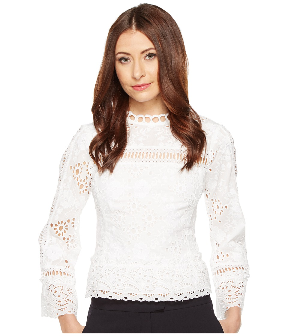 Nanette Lepore - Eyes Have It Top (White) Women's Clothing