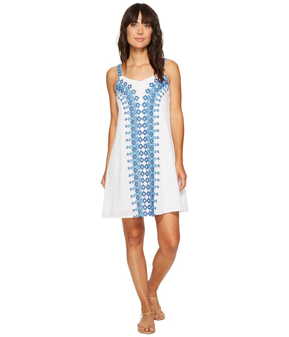 Tommy Bahama - Greece's Pieces Sleeveless Short Dress (White) Women's Dress