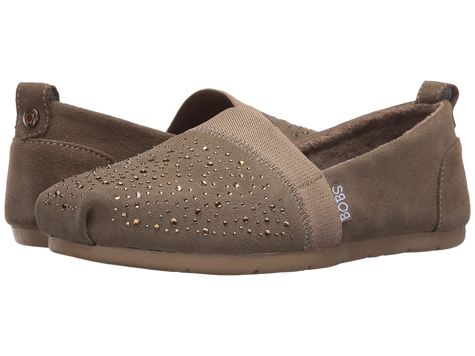 BOBS from SKECHERS - Luxe Bobs - Galaxy (Taupe) Women's Shoes