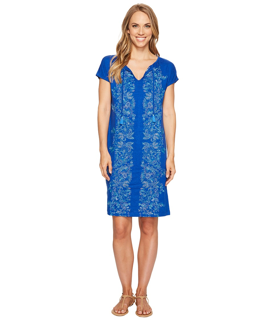 Tommy Bahama - Vines of Vothono Short Sleeve Short Dress (Old Royal) Women's Dress