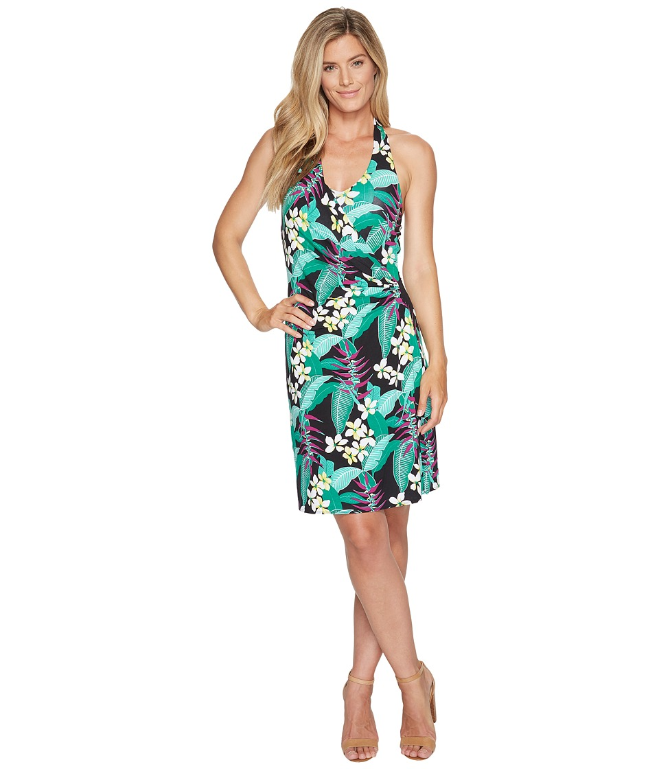 Tommy Bahama - Livia Leaves Short Dress (Black) Women's Dress