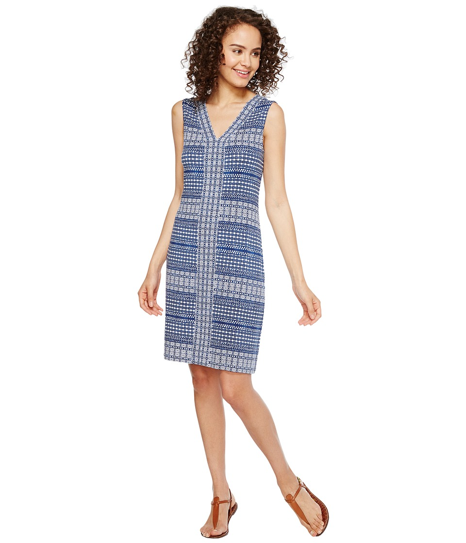 Tommy Bahama - Greek Grid Short Sleeveless Dress (Kingdom Blue) Women's Dress