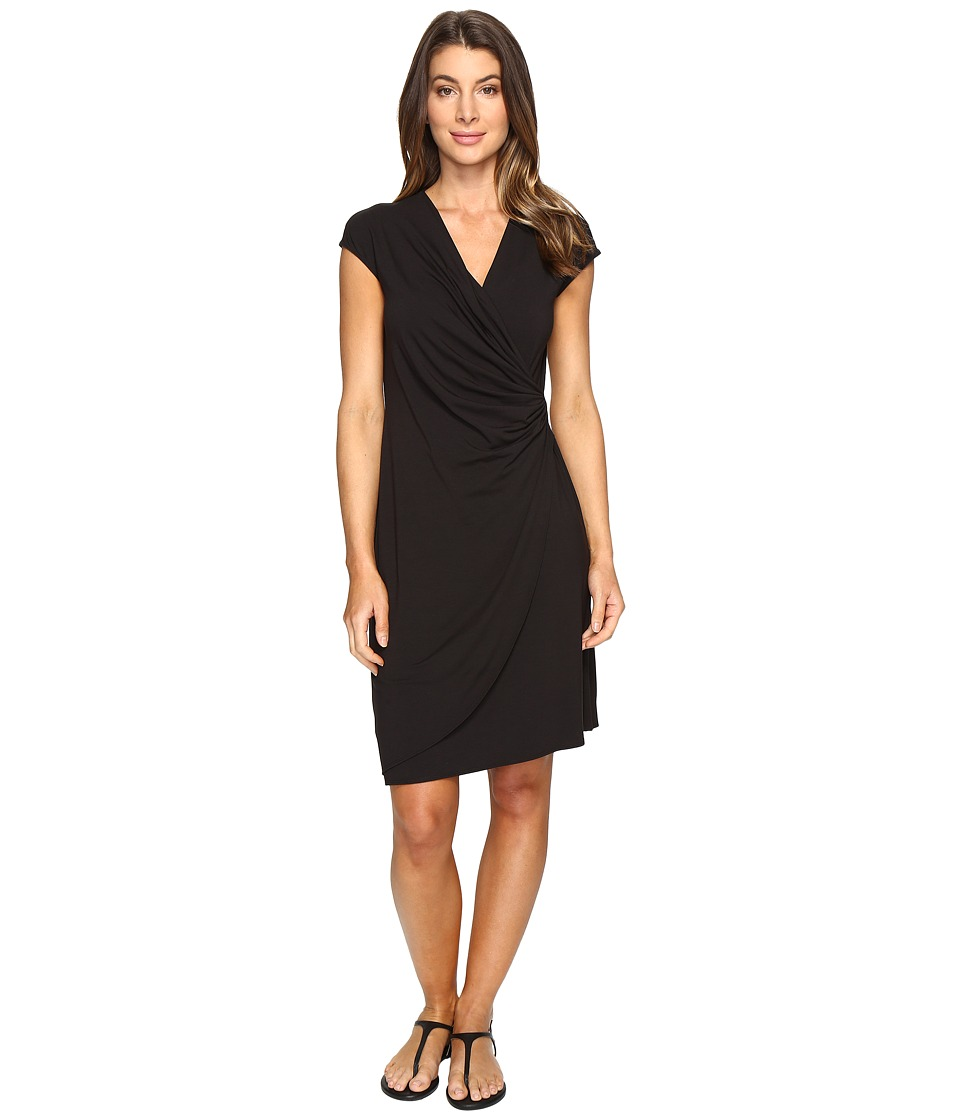 Tommy Bahama - Tambour Side Gathered Dress (Black) Women's Dress