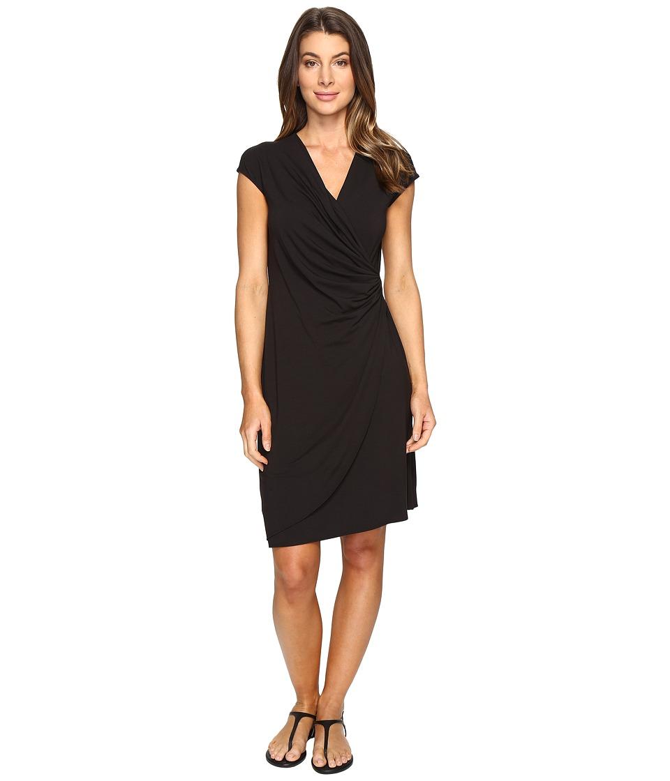 Tommy Bahama - Tambour Side Gathered Dress (Black) Women's Dress