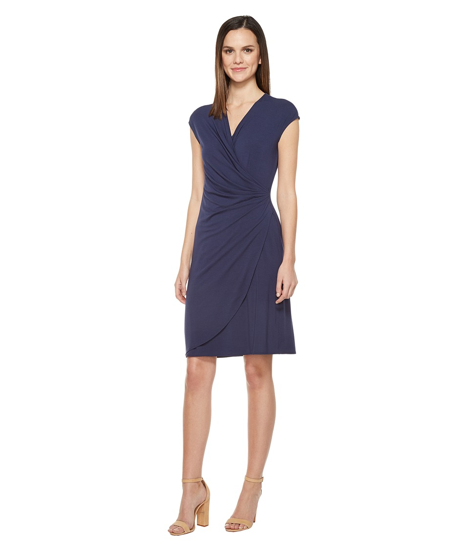 Tommy Bahama - Tambour Side Gathered Dress (Ocean Deep) Women's Dress