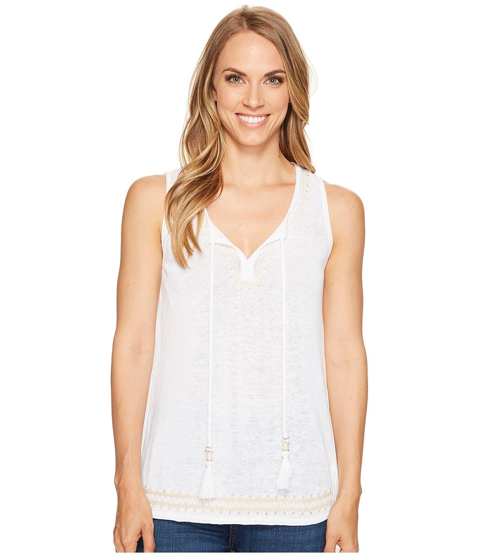 Tommy Bahama - Lea Embellished Sleeveless Tunic (White) Women's Clothing