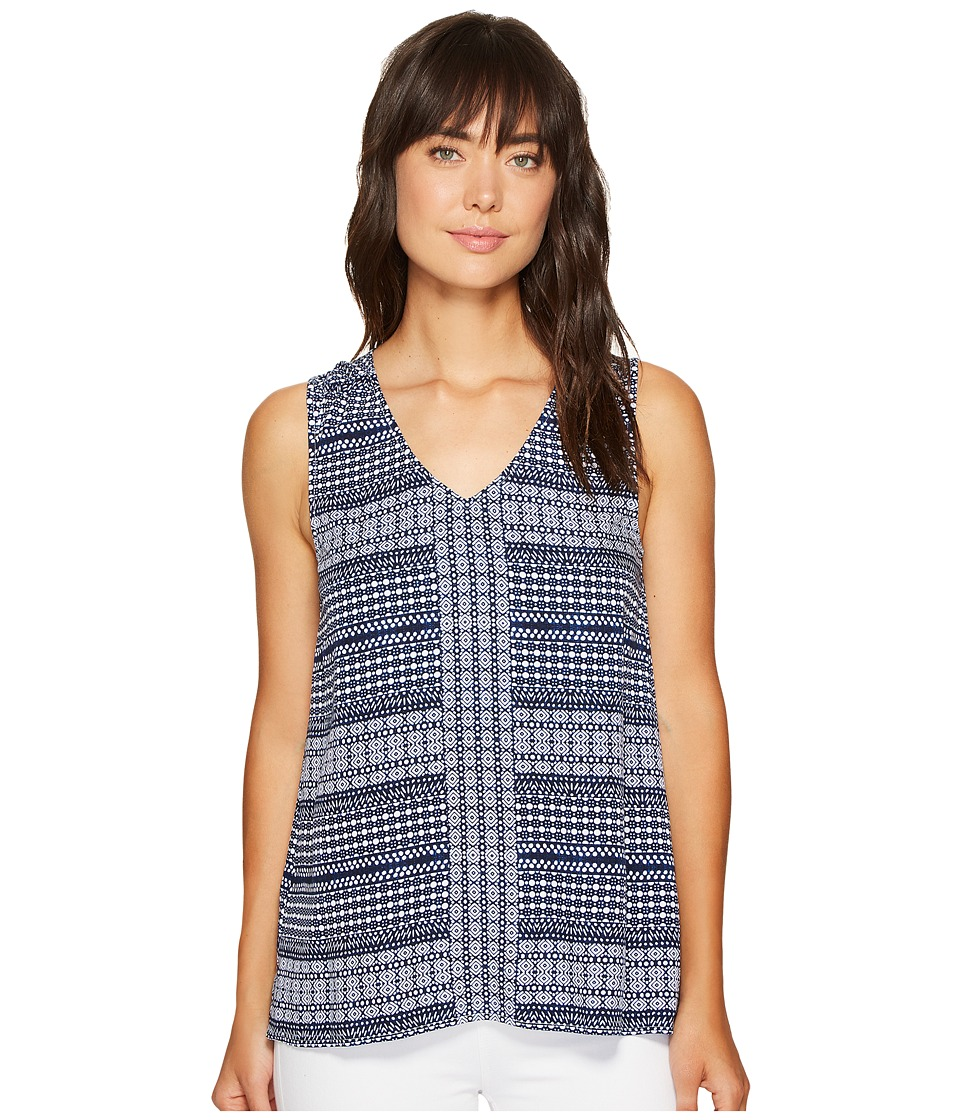 Tommy Bahama - Greek Grid Tank Top (Kingdom Blue) Women's Sleeveless
