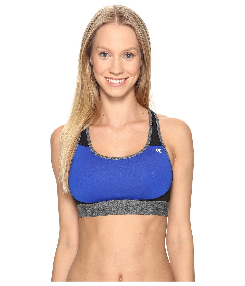Champion - Moderate Support Compression Bra (Flight Blue/Black/Granite Heather) Women's Bra