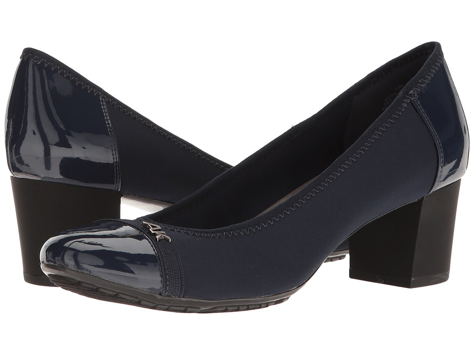 Anne Klein 7Glammer (Navy Multi Fabric) Women