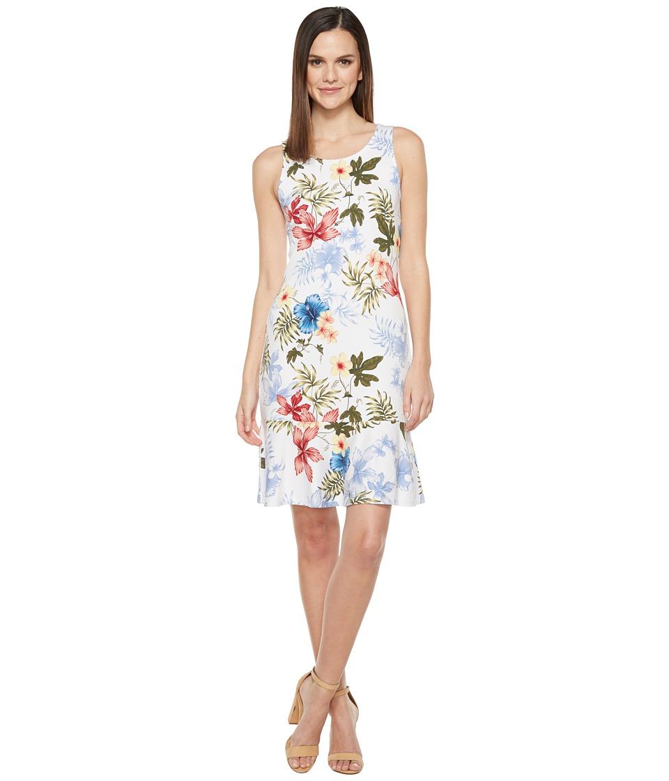 Tommy Bahama - Eros Botanical Sleeveless Short Dress (White) Women's Dress