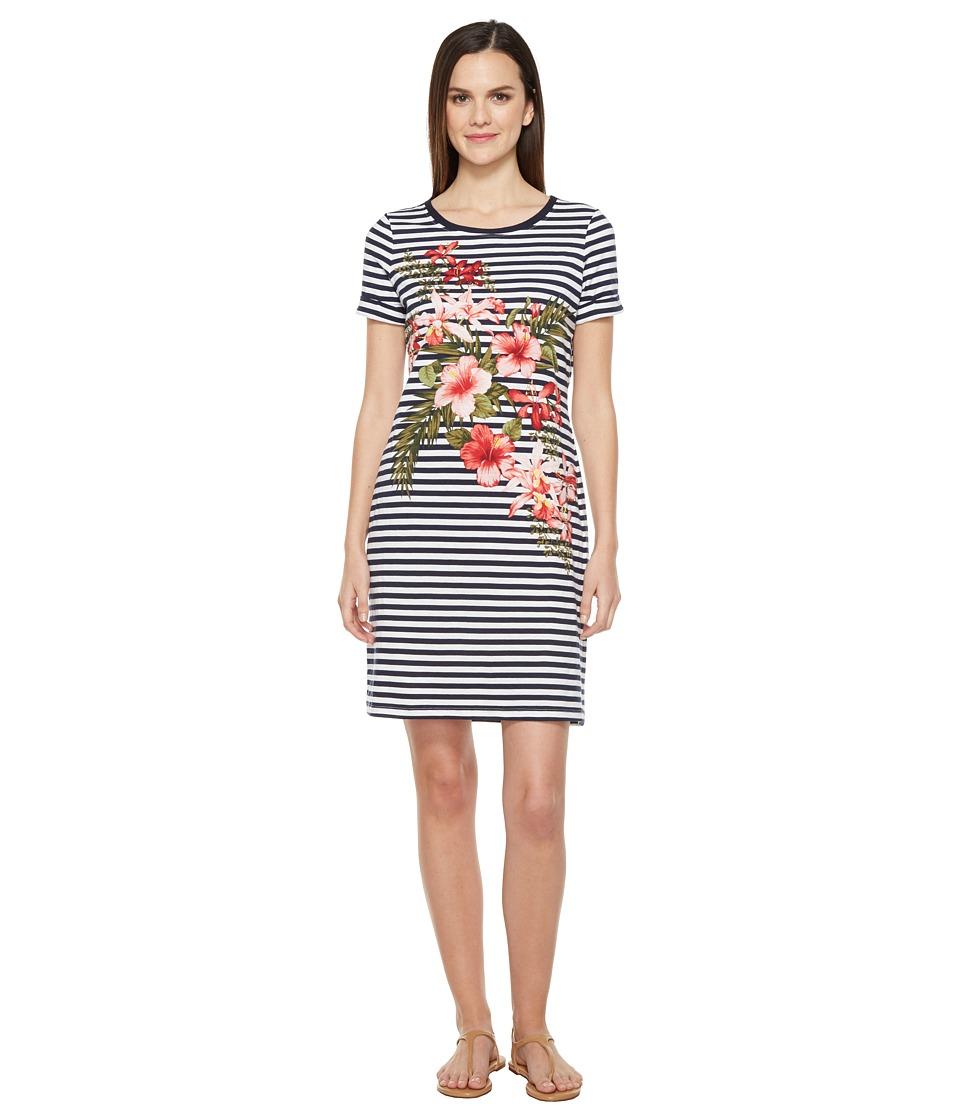 Tommy Bahama Sacred Groves Stripe Short Dress (Ocean Deep) Women