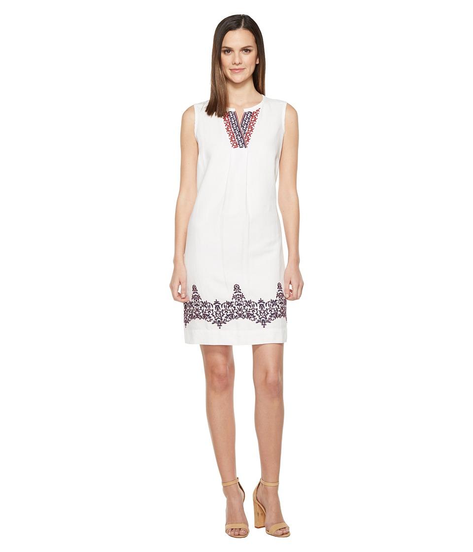 Tommy Bahama - Kamari Embroidered Linen Short Dress (White) Women's Dress