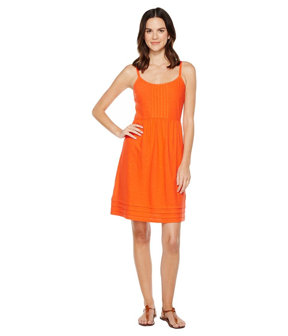Tommy Bahama Arden Pleated Short Sundress (Blazing Orange) Women
