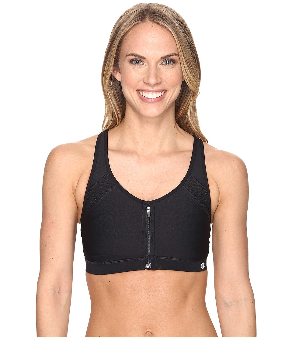 Champion - The Zip Bra (Black) Women's Bra